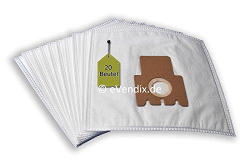 Preisvergleich Produktbild 20 Staubsaugerbeutel passend für Miele Swing H1 Electro EcoLine Plus | 3-lagiger Microvlies Staubbeutel von eVendix®
