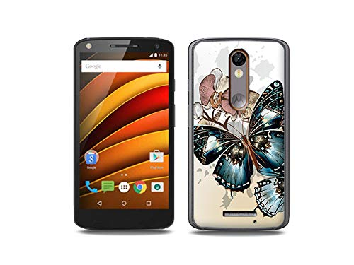 etuo Handyhülle für Motorola Moto X Force - Hülle, Silikon, Gummi Schutzhülle - Schöne Schmetterlinge