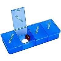 Tablettendose Pillendose, 4-geteilt, mit Klappdeckel, blau-transparent - Tablettenbox Pillenbox preisvergleich bei billige-tabletten.eu