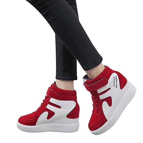 ABsoar Freizeitschuhe Damen Turnschuhe Sneaker Erhöht zufällige einzelne Schuhe flach mit den wasserdichten Farben-zusammenpassenden Schuhen der Frauen