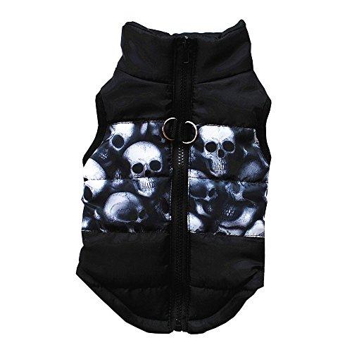 Bayliney Winter Warm Haustier Jacken MäNtel Zum Klein Mittel Groß Hunde Katze Hund Mantel Jacke Lieferungen Kleider Bekleidung HüNdchen KostüM (Schwarz,L) (Hündchen Kostüm Für Mädchen)