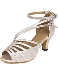 Sukutu SU003 Zapatos para mujer para bailes de salón, latino, salsa o tango
