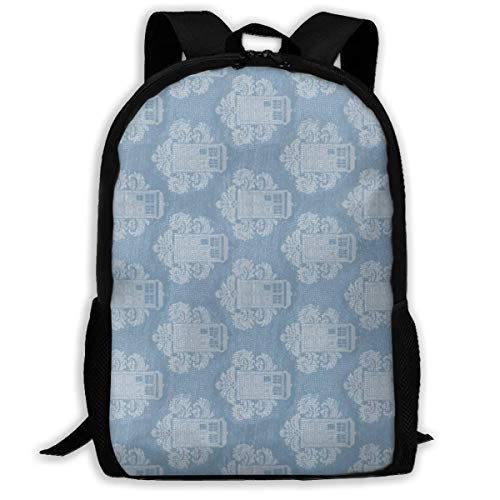 Rucksack Schultaschen Jugendliche Lovely Tardis Cute Pattern Travel Hiking Backpack for Men and Women Outdoor College Laptop Bookbag Business Rucksack Fits MacBook Air