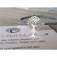 Armband Lebensbaum, Geschenk Valentinstag, 925 Silber