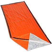 OUTAD Bolsa de Albergue de Emergencia, Supervivencia Bolsa, Emergencia Zona Marca, Manta Reflectante(color naranja)