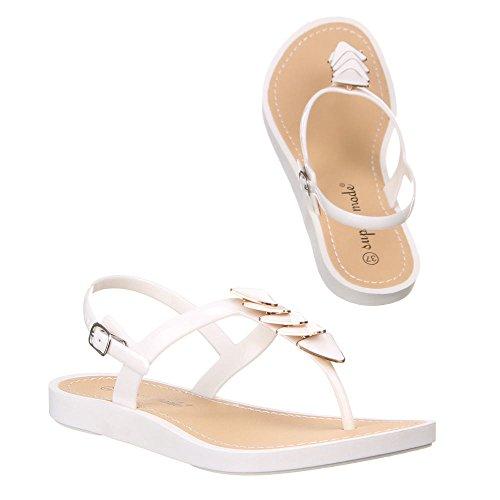 Damen Schuhe, 50057, SANDALEN Weiß