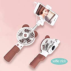 ZDYLM-Y Mini Ventilatore Portatile Palmare Bastone per Selfie Universale Muto USB Ventilatore Elettrico Portatile tenuto in Mano, Adatto per Viaggiare all'aperto in Ufficio a casa, Marrone
