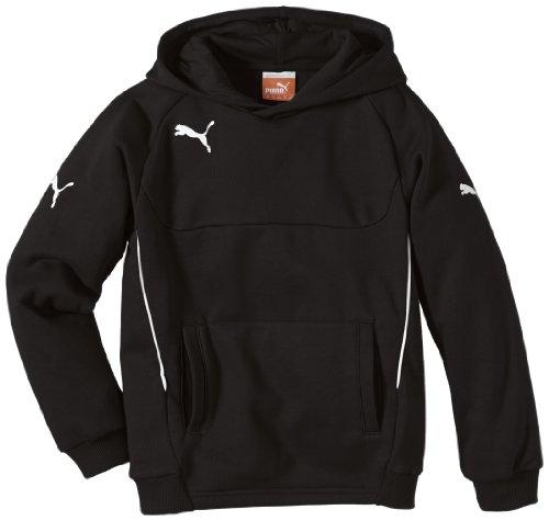 PUMA Kinder Pullover Hoody, schwarz (Black-White), 152, 653979 03 (Sweatshirt Pullover Hoody)