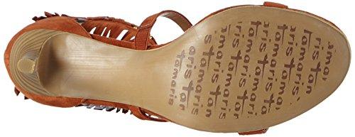 Tamaris 28346, Sandales Bout Ouvert Femme Orange (Brick 544)