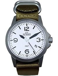 LIV MORRIS 0732066353744 - Reloj para hombres, correa de nailon color azul marino