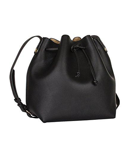 SIX-Basic-kleine-Damen-Handtasche-Umhngetasche-Shopper-Beutel-Tasche-schwarz-mit-gold-und-Innentasche-463-665