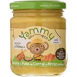 Yammy, Potito Ecológico de Pollo (Batata, Pollo de Corral, Arroz Integral) - 12 de 195 gr. (Total 2340 gr.)