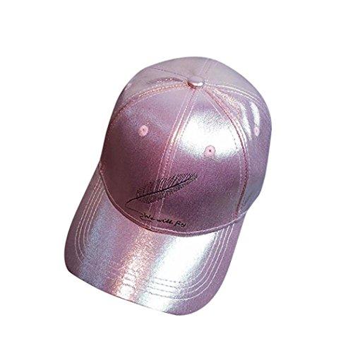 Preisvergleich Produktbild dikewang Neueste Frauen Herren Jungen Mädchen Feder Casquette Schildmütze Casual Cool Cap Baseball Cap unisexhip Hop flach Hat rosa rose Einheitsgröße