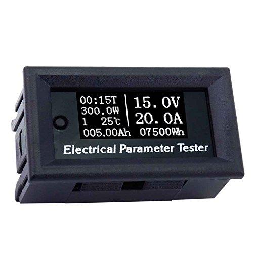 Aiming 100V 20A 7in1 OLED Multifunktions-Tester Spannung Strom Zeit Temperatur Kapazität Voltmeter Amperemeter Stromzähler