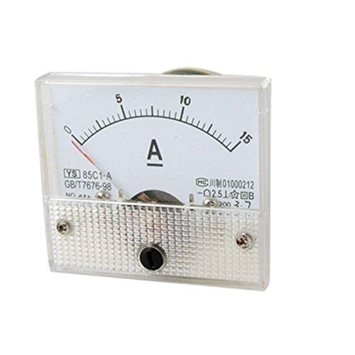 SODIAL(R) Amperimetro Analogico Rectangulo 85C1 CC 0-15A