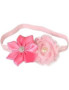 Happy Cherry-Fascia capelli, in tessuto, non a maglia, per neonati Filles-Fascia in Lace con nodo a forma di fiore...