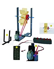 StepsToDo Hydro Electricity Kit. Hydroelectric Power Generation DIY Kit. Make Working Model. Generate Electricity from Flowing Water and Glow Small LED Light