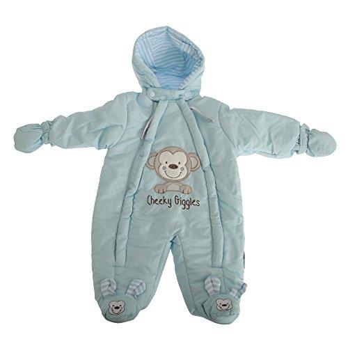 Nursery Time Baby Jungen/ Mädchen Freches lachen Schneeanzug (Neugeborene) (Himmelblau)