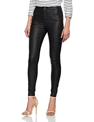 New Look Disco Coated, Jeans Donna, Black (Black), 46