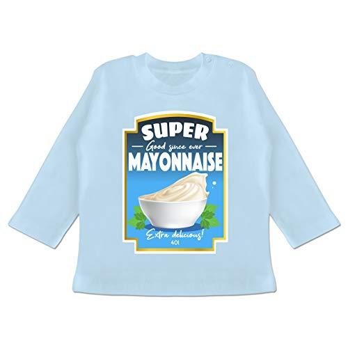 Karneval und Fasching Baby - Mayonnaise Kostüm - 12-18 Monate - Babyblau - BZ11 - Baby T-Shirt ()