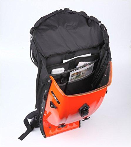 Snail Shop Hardshell Rucksack Outdoor Riding Rucksack Tasche Daypack Wandern Camping Reisetasche Orange
