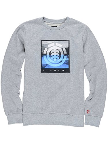 Herren Sweater Element Rolling Crew Sweater Grey Heather