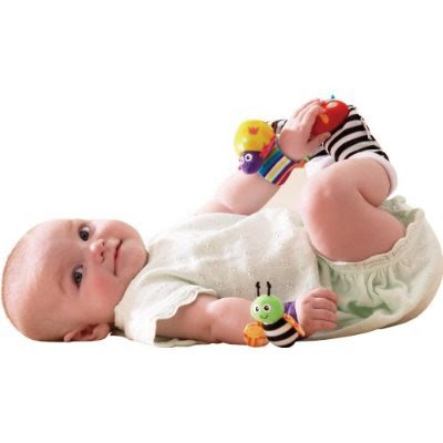 EZ Life LAMAZE Wrist Rattle Yellow Lady Bird