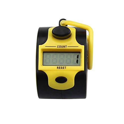 Zähler , Colorful (TM) Handzählgerät, Handzähler ,5-stellige Handzähler (Gelb)