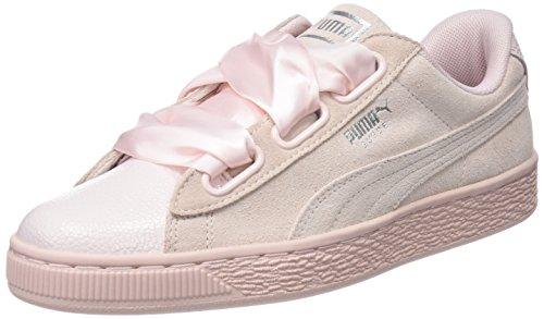 Puma Damen Suede Heart Bubble Wn's Sneaker, Pink (Pearl-Pearl), 38 EU (Bubble Damen)