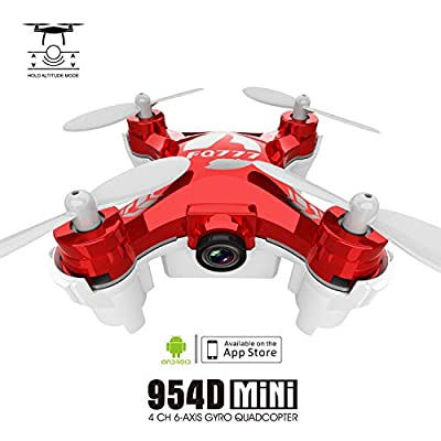 Drone With Camera Mini Quadcopter Portable Foldable Drone HD Shooting Six-axis Gyroscope Headless Mode Anti-interference Protection ( Color : Red )