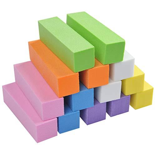 Wowoss 14 pezzi buffer unghie, 7 colori buffer lime unghie per levigatura file del manicure, mattoncini buffer per unghie professionale