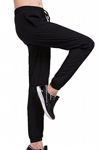 Cody Lundin® Femmes Pantalon Large Confortable, d'entraînement de Fitness Sports Jogging Loisirs Pantalons Noir