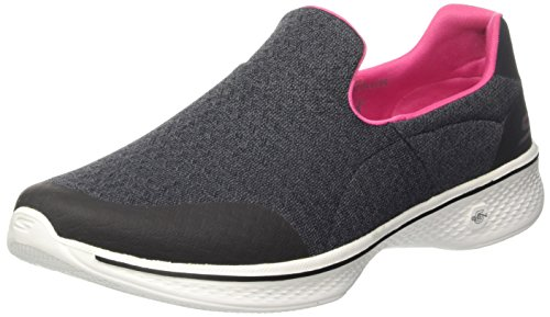 Skechers Go Walk 4, Zapatillas sin Cordones para Mujer, Negro (Black/Hot Pink),...