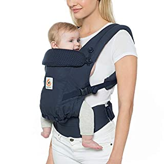 Ergobaby Baby Carrier for Newborn to Toddler up to 20kg, Navy Mini Dots Adapt 3-Position Ergonomic Child Carrier Backpack