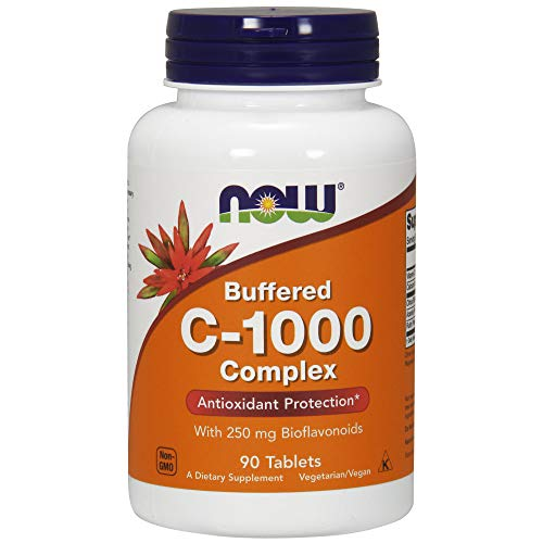 Vitamin C-1000 Complex - Buffered with 250mg Bioflavonoids - 90 tabs (Naturals Source C Vitamin)