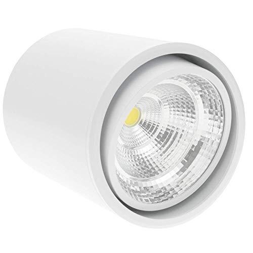 BeMatik - Foco LED de superficie Lámpara COB 7W 220VAC 6000K blanca...