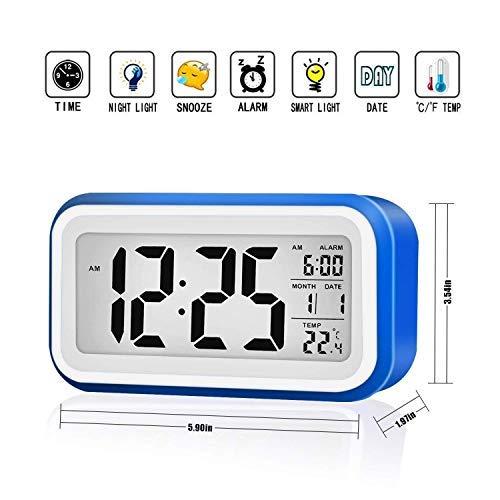 VADIV Reloj Despertador Digital Gran Pantalla Silencioso