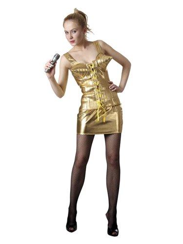 2-tlg. Madonna gold (Madonna Kostüme)