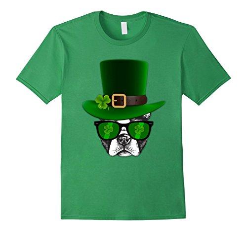 Leprechaun Boston Terrier Tshirt St. Patricks day Herren, Größe S (T Shirts St Patricks)