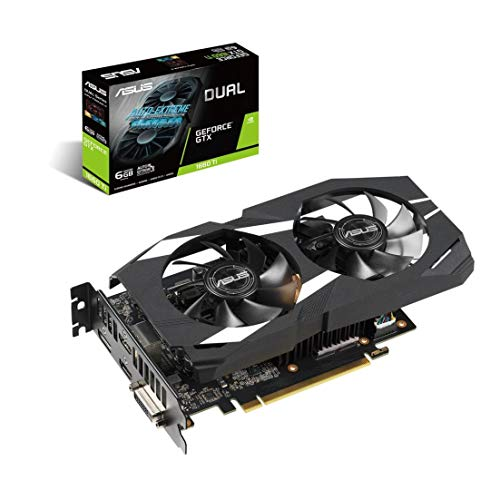 ASUS GeForce Dual-GTX1660TI-O6G-Gaming Grafikkarte (Nvidia, PCIe 3.0, 6GB DDR6 Speicher, HDMI, DVI, DisplayPort) - Oc Pci Express