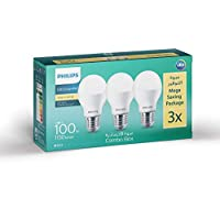 Philips LED Bulb Circular, 100 Watt - 3 Pieces White