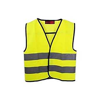 Baratec Yellow Hi Viz High Visibility Childrens Kids Vest Waistcoat - Ages 4-12 (Age 7-9 Chest 79-84cm)