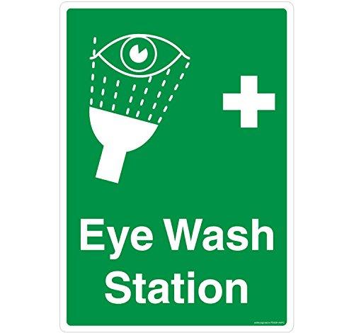 Safety Sign Store-Detergente Station materiale Self Adhesive, 3 m in policarbonato, 0,25 Mm, confezione da 1 210 L X 297 W