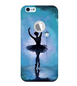 FUSON Girl Doing Dance Night 3D Hard Polycarbonate Designer Back Case Cover for Apple iPhone 6S (Logo View Window Case)