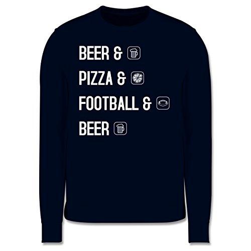 Sonstige Sportarten - Beer Pizza Football Beer - Herren Premium Pullover Dunkelblau