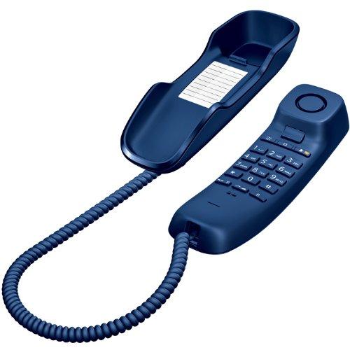 Gigaset DA210 - Teléfono fijo (analógico, 10 contactos, 3 tonos) color azul