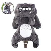 joizo 1pc Totoro Pet Change Appare Mascot Winter Costume Totoro Coat Funny Monkey Cosplay Clothes For Small Medium Dogs (gray, S)