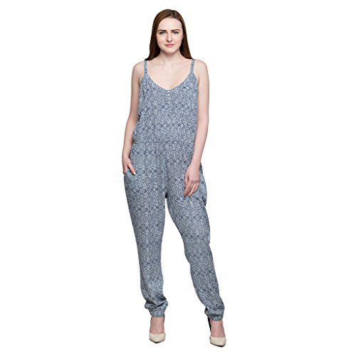 Oxolloxo Women's printed jumpsuit  available at amazon for Rs.434