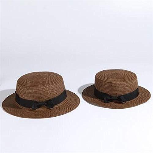 kyprx Cappelli da Sole Moda Cappello da Sole Paglia Cappello da Sole semplicecren Arco Fatto a Mano Donne Cappello di Paglia Spiaggia Grande irls offee
