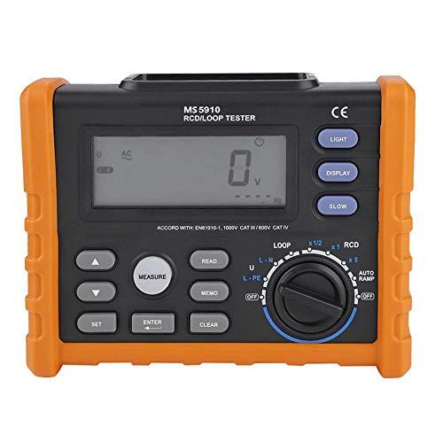 Akozon Medidor de resistencia digital,RCD Tester, Leakage Switch Tester, resistencia de lazo,...